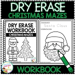 Dry Erase Workbook: Christmas Mazes ~Digital Download~