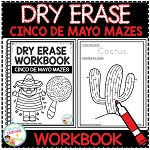 Dry Erase Workbook: Cinco De Mayo Mazes ~Digital Download~