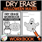 Dry Erase Workbook: Halloween Mazes ~Digital Download~