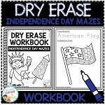 Dry Erase Workbook: Independence Day Mazes ~Digital Download~