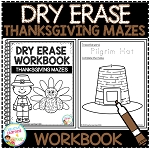 Dry Erase Workbook: Thanksgiving Mazes ~Digital Download~