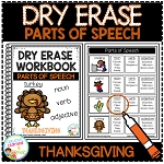Dry Erase Parts of Speech Workbook: Thanksgiving ~Digital Download~