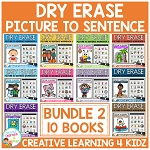 Dry Erase Picture to Sentence Workbook: Bundle 2 ~Digital Download~