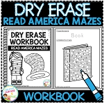 Dry Erase Workbook: Read Across America Mazes ~Digital Download~
