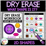 Dry Erase What Shape is it? Workbook: 2D Shapes ~Digital Download~