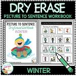 Dry Erase Picture to Sentence Workbook: Winter ~Digital Download~