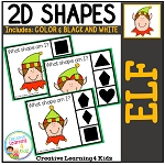 Shape Clip Cards: Christmas Elf ~Digital Download~