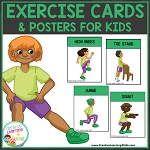 Exercise Cards & Posters for Kids ~Digital Download~
