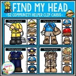 Find My Head Clip Cards: Community Helpers ~Digital Download~