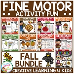 Fine Motor Skills Activity Fun Bundle: Fall ~Digital Download~