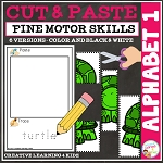 Cut and Paste Fine Motor Skills Puzzle Worksheets: Alphabet 1 ~Digital Download~