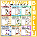 Cut and Paste Fine Motor Skills Puzzle Worksheets: Bundle 2 ~Digital Download~