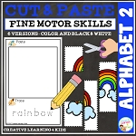 Cut and Paste Fine Motor Skills Puzzle Worksheets: Alphabet 2 ~Digital Download~