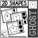 Shape Clip Cards: Ghost ~Digital Download~