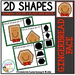 Shape Clip Cards: Gingerbread Man Face ~Digital Download~