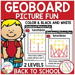Geoboard Picture Fun: Back to School ~Digital Download~