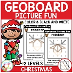 Geoboard Picture Fun: Christmas ~Digital Download~