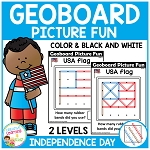 Geoboard Picture Fun: Independence Day ~Digital Download~