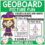 Geoboard Picture Fun: Mardi Gras ~Digital Download~