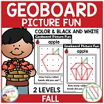 Geoboard Picture Fun: Fall ~Digital Download~