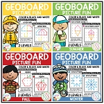 Geoboard Picture Fun: Seasons Bundle ~Digital Download~