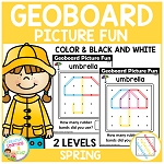 Geoboard Picture Fun: Spring ~Digital Download~