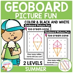 Geoboard Picture Fun: Summer ~Digital Download~