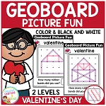 Geoboard Picture Fun: Valentine's Day ~Digital Download~