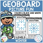 Geoboard Picture Fun: Winter ~Digital Download~