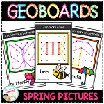 Geoboard Templates: Spring Pictures ~Digital Download~