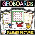 Geoboard Templates: Summer Pictures ~Digital Download~