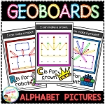 Geoboard Templates: Alphabet Pictures ~Digital Download~