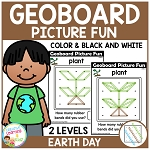 Geoboard Picture Fun: Earth Day ~Digital Download~