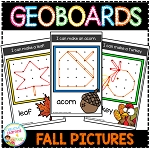 Geoboard Templates: Fall Pictures ~Digital Download~