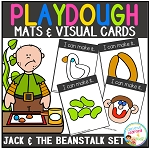 Playdough Mats & Visual Cards: Fairy Tale - Jack and The Beanstalk ~Digital Download~