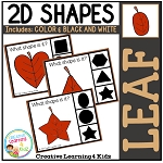 Shape Clip Cards: Leaf ~Digital Download~