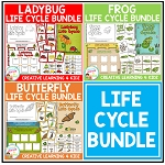 Life Cycle Units: Frog - Butterfly - Ladybug Bundle ~Digital Download~