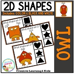 Shape Clip Cards: Owls ~Digital Download~