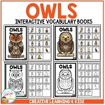 Interactive Vocabulary Books: Owls ~Digital Download~