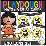 Playdough Mats & Visual Cards: Emotions ~Digital Download~