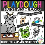 Playdough Mats & Visual Cards: Fairy Tale - Three Billy Goats Gruff ~Digital Download~