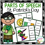 Parts of Speech Clip Cards: St. Patrick's Day ~Digital Download~