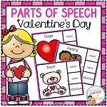 Parts of Speech Clip Cards: Valentine's Day ~Digital Download~