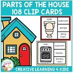 Parts of the House Clip Cards ~Digital Download~