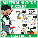 Pattern Block Puzzles: Numbers ~Digital Download~