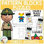 Pattern Block Puzzles: Animals - Forest ~Digital Download~