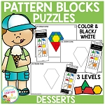 Pattern Block Puzzles: Food - Desserts ~Digital Download~