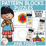 Pattern Block Puzzles: Food - Junk Foods ~Digital Download~