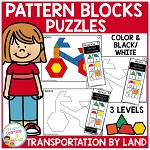 Pattern Block Puzzles: Transportation - Land ~Digital Download~