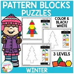 Pattern Block Puzzles: Winter ~Digital Downloads~